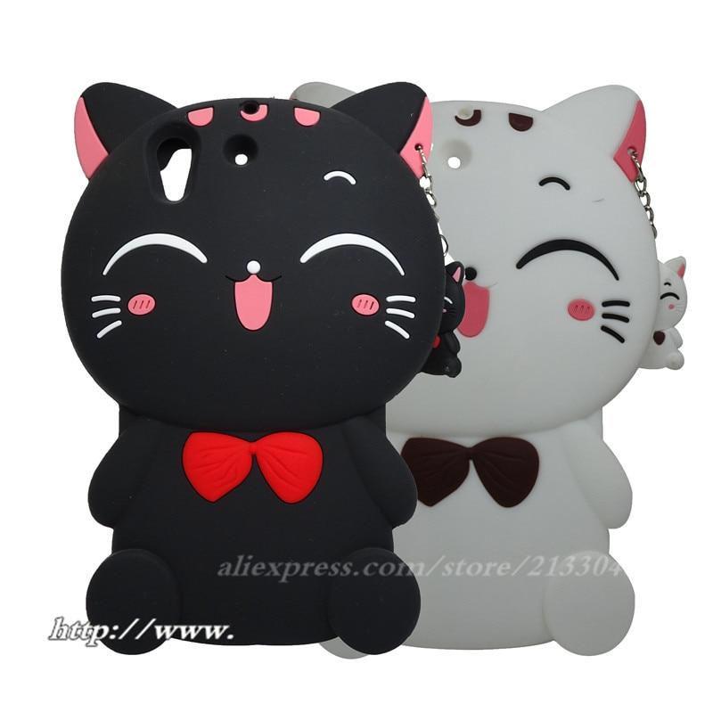 3D Cartoon chat chanceux couverture en silicone souple pour Coque Huawei Y6 II étui téléphone Fundas étui pour Huawei Y6 II étui 5.5 pouces