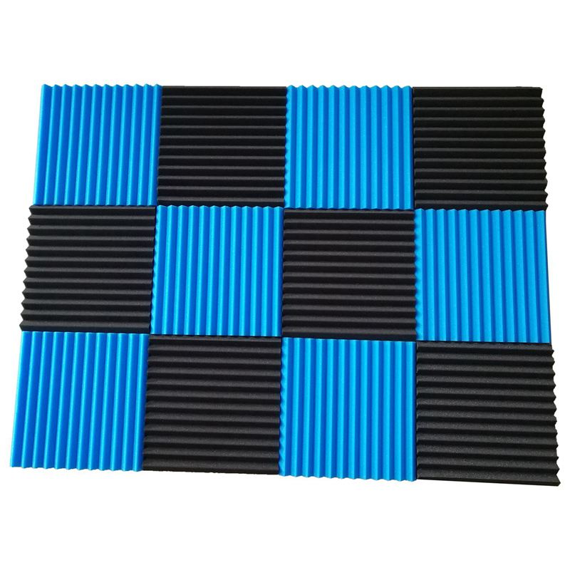 Promotion! 12 Pck Acoustic Panels Soundproofing Foam Acoustic Tiles Studio Foam Sound Wedges 1 Inch X12 Inch X12 Inch