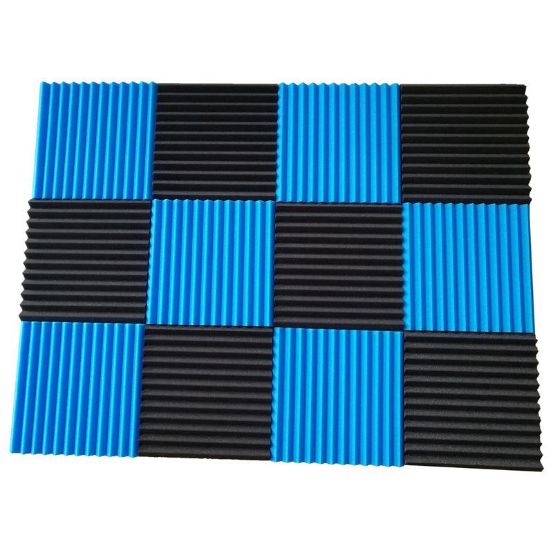 Promotion! 12 Pck Acoustic Panels Soundproofing Foam Acoustic Tiles Studio Foam Sound Wedges 1 Inch X12 Inch X12 Inch