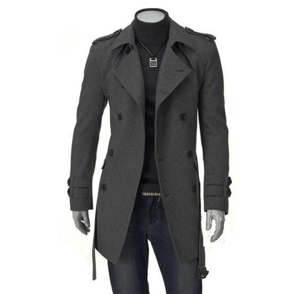 Longue VesteManteaux Manteau Hommes Tranchée Cachemire D'hiver Slim Made Long Laine Sur Fit Custom Pour Manteau2014 Mesure Mode WIYE9eHbD2