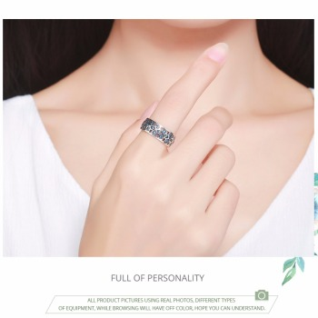 Petals of Love Blue CZ Ring2