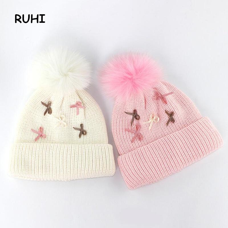 Christmas Gift Boy Girl Hat 2 Colors Children Wool Cap Baby Girls Winter Fashion Kids Beanie Hats Boys Solid Print BMZ50