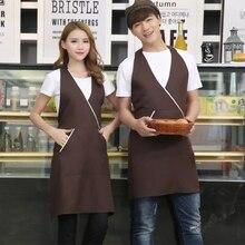 Coffee, milk, tea, cake shop, apron restaurant, nail salon, work clothes, apron, Korean version of fashionable women