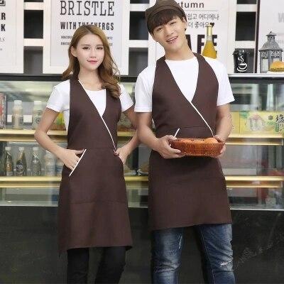 Winkelen Voor Goedkoop Koffie, Melk, Thee, Cake Winkel, Schort Restaurant, Nail Salon, Werkkleding, Schort, Koreaanse Versie Van Modieuze Vrouwen Compleet In Specificaties
