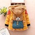 Новый 2015 зимние дети мультфильм осень-зима толстый теплый флис свитер 1 шт. 75-110 см мальчики зима теплые пальто дети осень одежда