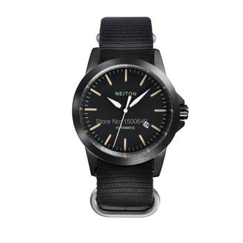 Neiton Sapphire Glass 42mm Luminous Automatic Movement Black Watch men E1288