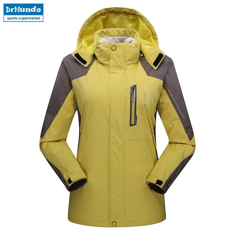 0cfef0e1f9ba8 Women ski jacket Hiking Mountain Thicken Plus Size Fleece Ski wear  Waterproof Outdoor Snowboard Jacket Female Snow Jacket -in Skiing Jackets  from Sports ...
