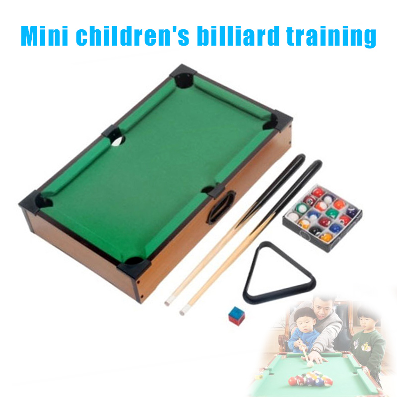 HOT Mini Tabletop Pool Table Billiards Set Training Gift for Children Fun Entertainment HV99