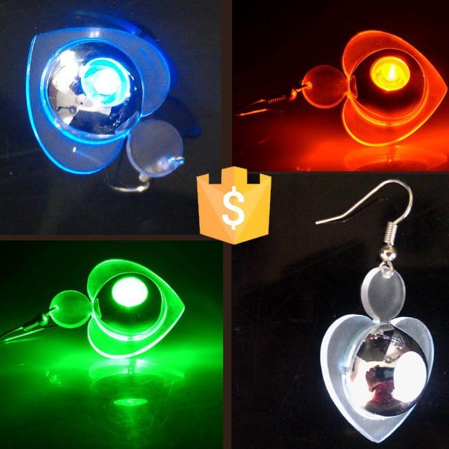 Flash Light Up LED Earring Drop Blinking Christmas Earrings Light Up Amazing Fashion LED Ear Rings LED Studs Party 50pcs/lot