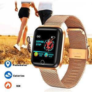 Image 3 - Fashion SmartWatch Mannen vrouwen Hartslagmeter Bloeddruk Tracker Fitness tracker Sport Waterdicht Smart horloge Voor iPhone