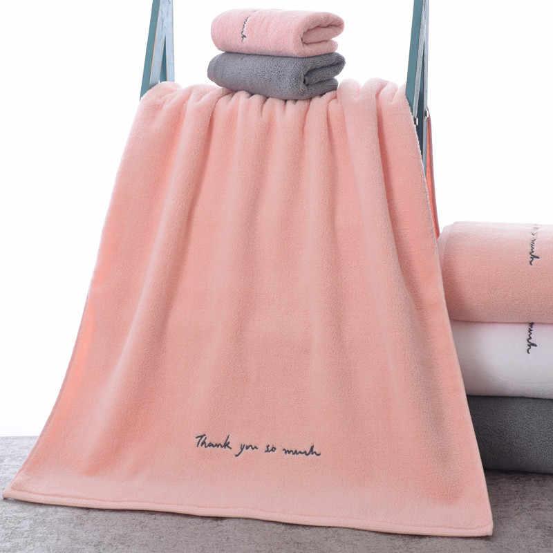 Zhuo Mo Egyptische Katoenen Handdoeken Voor Volwassenen Zoete Letters Soft Geborduurde Bad Gezicht Handdoek Badkamer Douche Cadeau Voor Liefhebbers Handdoeken
