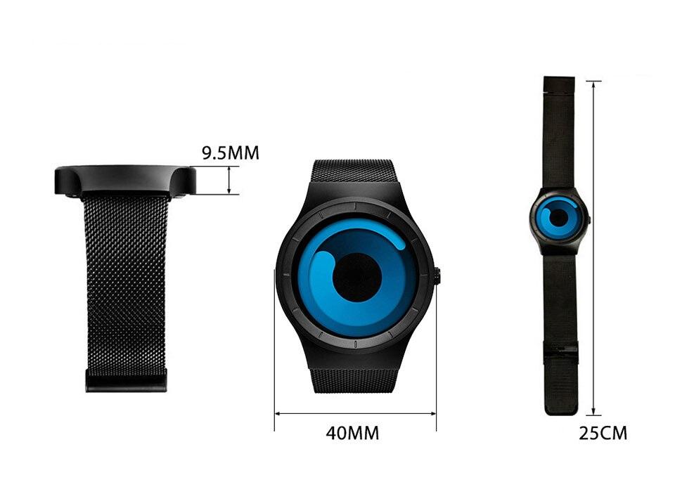 Montre hommes Rotation horloge mode Créative