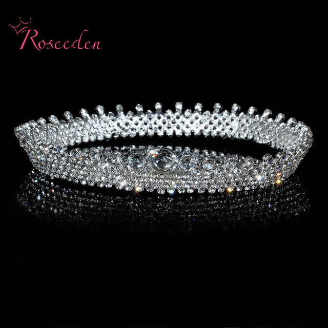 Hot Elegant Sparkly Crystal Rhinestone Crown Tiara Wedding Prom Bride's All Stereo Luxury Headband wedding Headpiece RE205