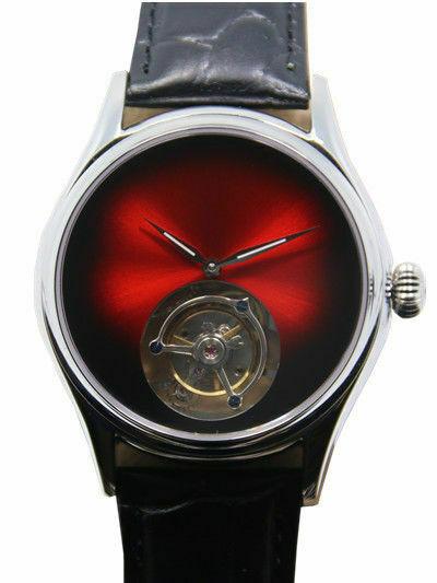 Mens Hi beat tourbillon carroussel  Wrist Watch Luxury Analog Gradient redMens Hi beat tourbillon carroussel  Wrist Watch Luxury Analog Gradient red