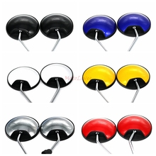 Motorcycle Rearview Mirrors 360 Degree Convex Moped Scooter Motorbike Side Mirror