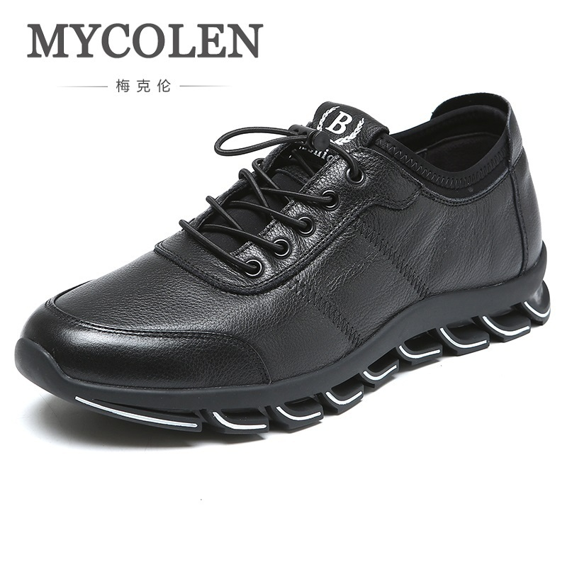 MYCOLEN 2018 Spring New Sneakers Men Fashion Casual Shoes Height Increasing Breathable Classic Black Men Shoes Herren Schuhe mycolen 2018 new summer breathable men casual shoes slip on male fashion footwear height increasing sneakers sepatu casual pria