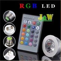 GU10 E27 MR16 GU5 3 3W 5W LED RGB Colour Changing Spotlight Light Bulb 65 265V