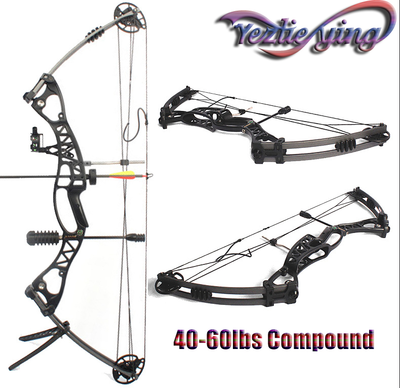 High Quality 40 60lbs Aluminium Alloy Pulley Compound Bow Adult Hunter Outdoor Crossbow Hunting Shooting Compound