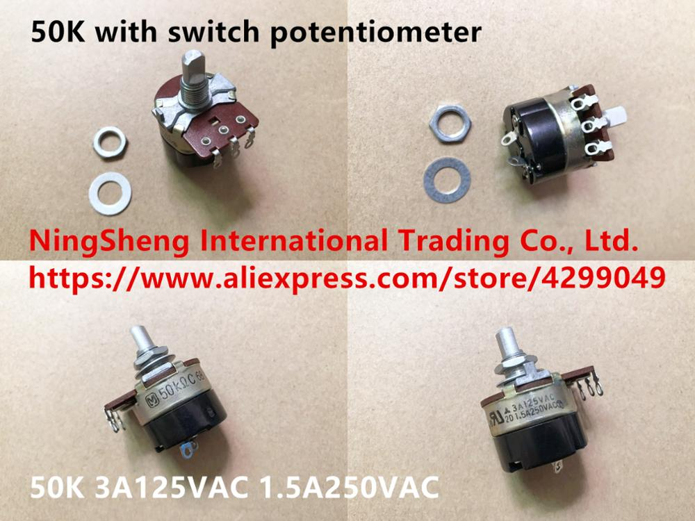 Original new 100% Japan import with switch potentiometer 50K 3A125VAC 1.5A250VACOriginal new 100% Japan import with switch potentiometer 50K 3A125VAC 1.5A250VAC