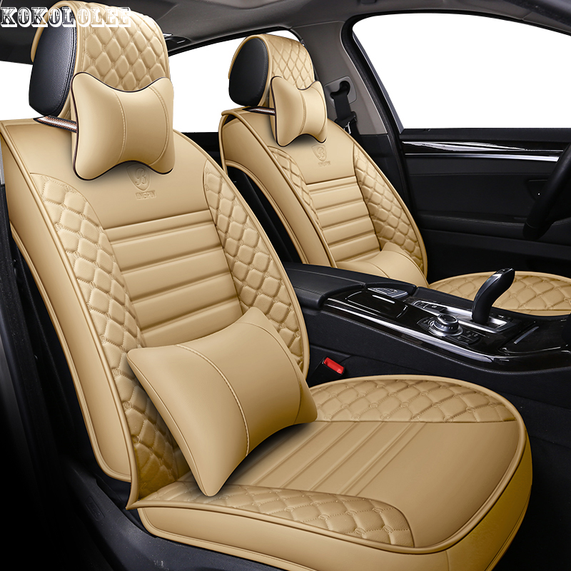 [kokololee] pu leather car seat covers for citroen berlingo peugeot 3008 volvo s60 ford kuga jeep renegade bmw auto accessories