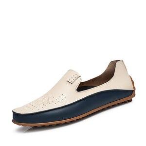 Image 3 - PUPUDA موضة أحذية من الجلد للرجال جديد الانزلاق على المتسكعون حجم كبير 47 أحذية قيادة عادية واسعة 2019 حذاء رسمي حذاء رياضة الذكور