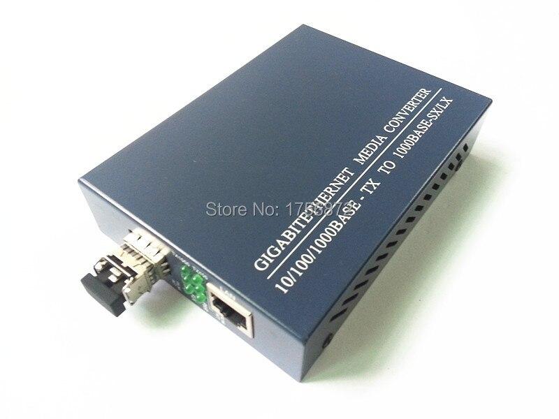 SFP 10/100/1000M Fiber Media Converter, Multi-mode Dual-fiber External PSU 0.5KM LC 850NMSFP 10/100/1000M Fiber Media Converter, Multi-mode Dual-fiber External PSU 0.5KM LC 850NM