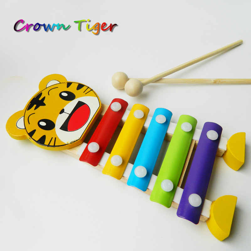 5 Tones Hand Knock Baby Kids Piano Xylophone Toy Children Noise Maker Musical Wisdom Development Puzzle Toy Educational Classic
