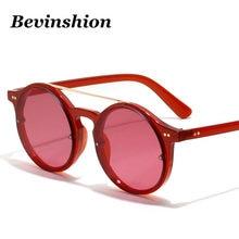c2e97c714759 Double Beams Rivet Round Korean Women Sunglasses Trend Vintage Sun Glasses  Male Red Black Hip Hop Style Fashion Eyeglasses UV400