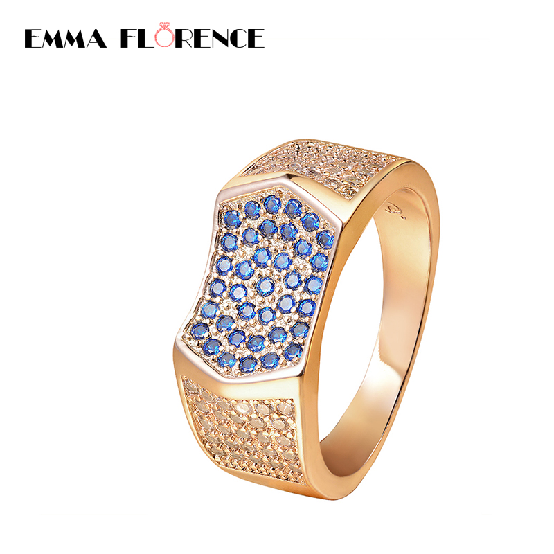 New Cool Gold Color Men Ring For Wedding Stainless Steel Crystal Engagement Rings For Ring Men Jewelry Bague Christmas Gift