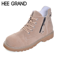 HEE GRAND Ankle Boots Women Lace Up Leisure Shoes Easy Collocation Women Oxford Bottom Autumn Women