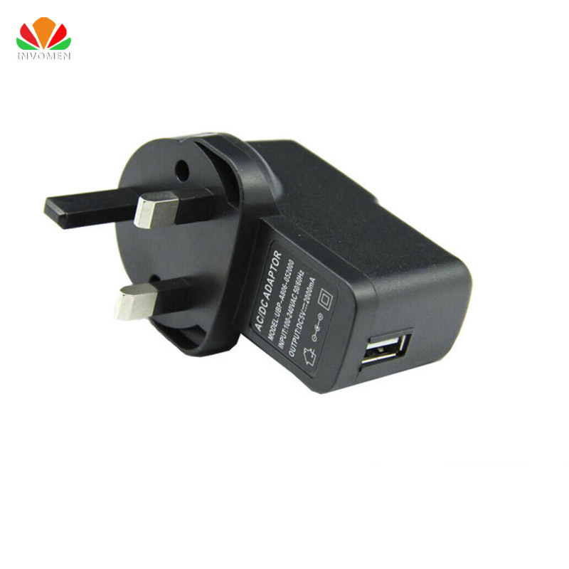 Universell mobiltelefonladdare Brittisk UK PLUG USB-laddare 1-port USB-nätadapter smart laddning för Apple Samsung iPad Tablet