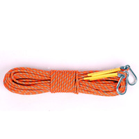 10M 20M 30M Climbing Auxiliary Rope Durable Outdoor Sports Safety Parachute Cord With Carabiners Rescue Rock