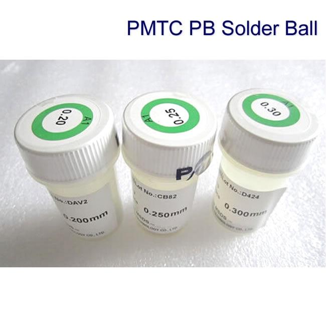 3pcs lot PMTC 0.2/0.25/0.3mm 250K leaded solder ball soldering ball pmtc 250k 0 5mm leaded free bga solder ball for bga repair