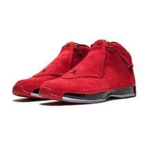 new style e0e16 70bb2 Jordan Retro 18 XVIII Uomini di pallacanestro scarpe da Ginnastica Rosso  Defining Moments Toro Sport Outdoor