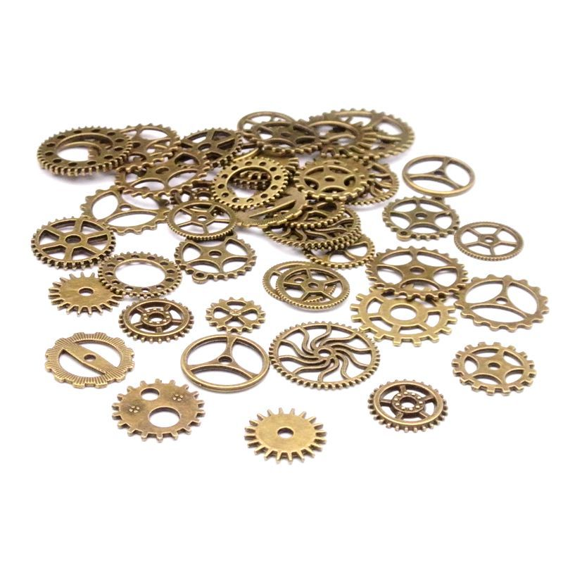 20 steam punk alloy jewelry accessories DIY handmade materials retro zinc alloy mixed charge gear gear pendant20 steam punk alloy jewelry accessories DIY handmade materials retro zinc alloy mixed charge gear gear pendant