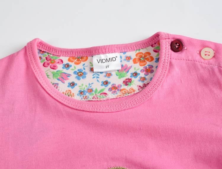 VIDMID Baby Girls t-shirt Short Sleeve Kids Clothes Brand Summer Tee T-Shirt Baby Girls Clothing bunny t shirt  Embroider 2