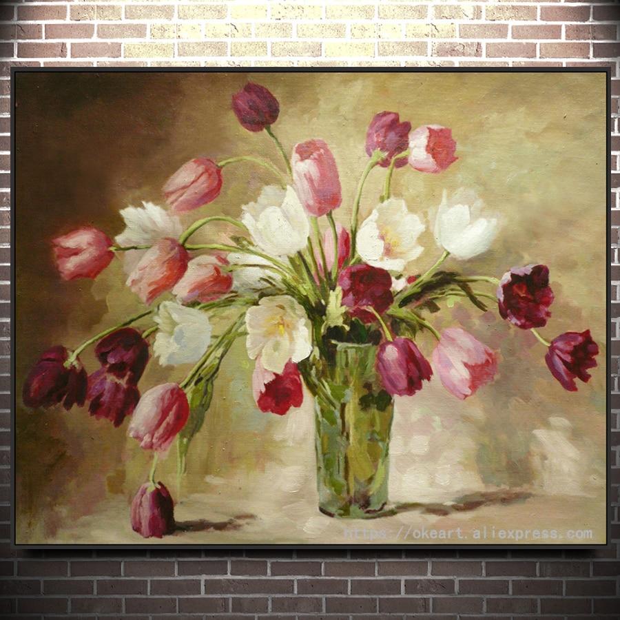 Dipinti Di Fiori Moderni | Dipinti A Mano In Stile Moderno Fiori Di ...
