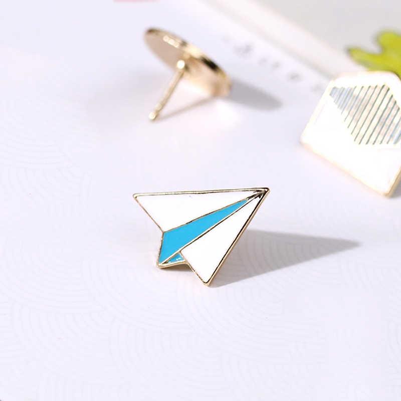 Cartton Mode-sieraden Trui Cirkel Ronde Envelop Metalen Broche Vrouwen En Mannen Pak Rok Broches Emaille Pin Pinnen