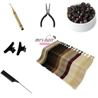 MRSHAIR 1g/pc 12 16 20 24 Pre Bonded Hair Extensions I Tip Machine Made Remy Straight Human Hair On Capsule Real Hair