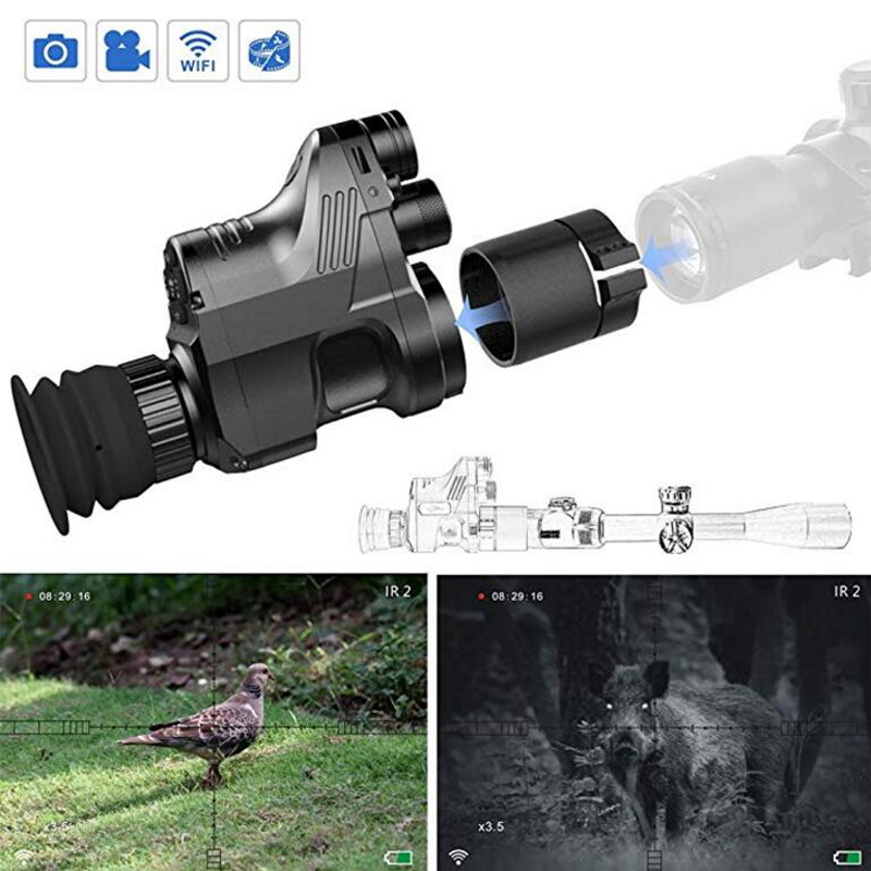 PARD 200 m Infravermelho Night Vision IR Monocular Telescópios Caça Digital Video Recorder 1080 P night vision riflescope