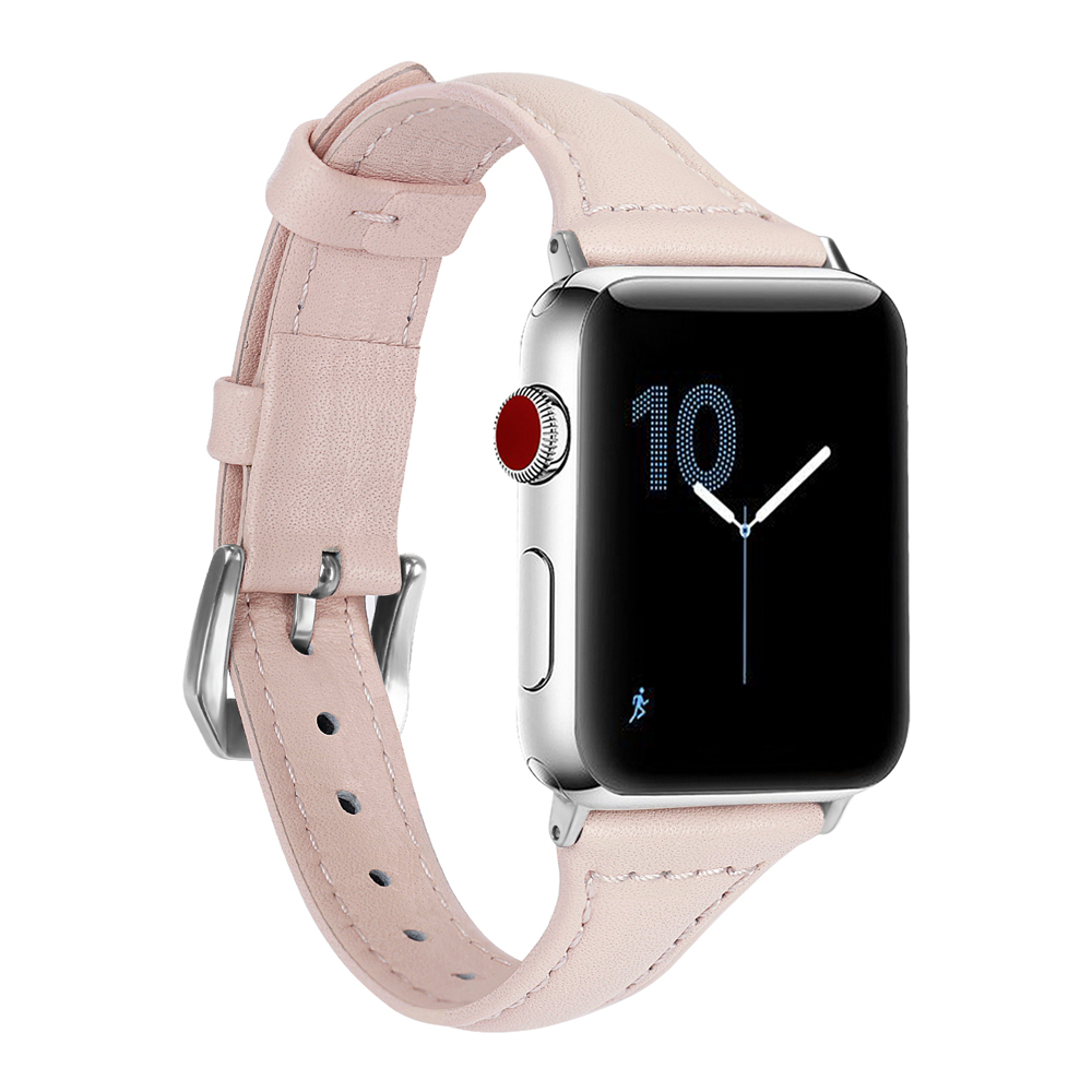 CRESTED 2018 Leather Strap For Apple watch band 42mm/38mm wrist band Iwatch series 3/2/1 bracelet belt stainless steel adapter
