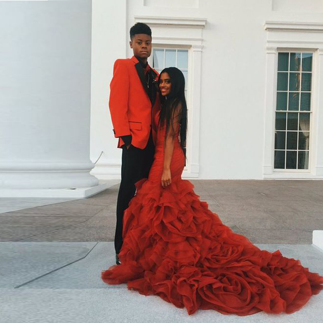 Hot Orange Prom Dresses