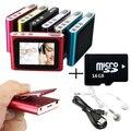 16 gb 1.8 pulgadas de pantalla de radio fm clip mp3 de la ayuda 32 gb sd micro/tf incluyendo auriculares mini usb cable
