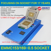 EMMC100 eMMC153 169 eMCP162 186 eMCP221 soket serisi USB3.0 okuyucu alaşım dayanıklı kabuk probe dokunmatik pin 300000 kez servis ömrü