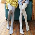 Nueva Moda de Primavera Y Otoño de Las Mujeres Medias Medias 120D de Terciopelo de Seda Ligera Muda Superficial Gris Representación Femenina Pantimedias