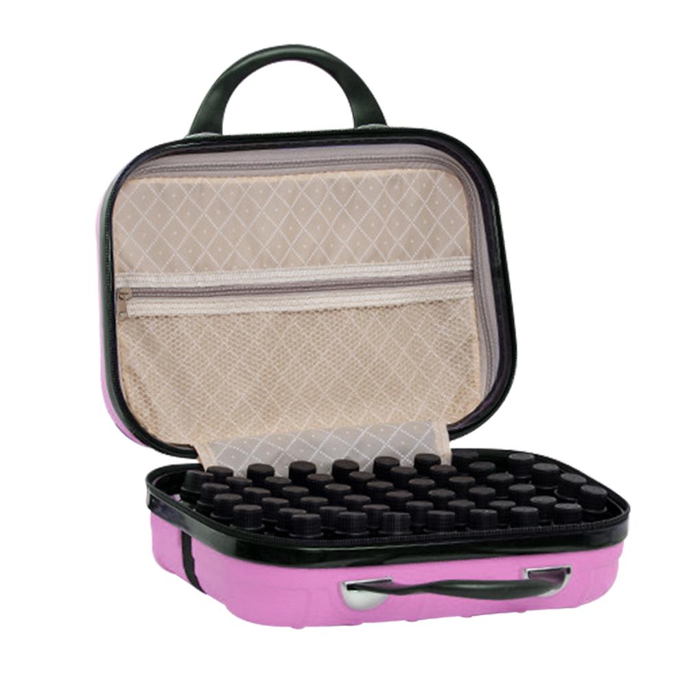 64 Compartment Essential Oil Bottle Travel Bag 15ML Portable Essential Oil Bottle Organizer Case 33