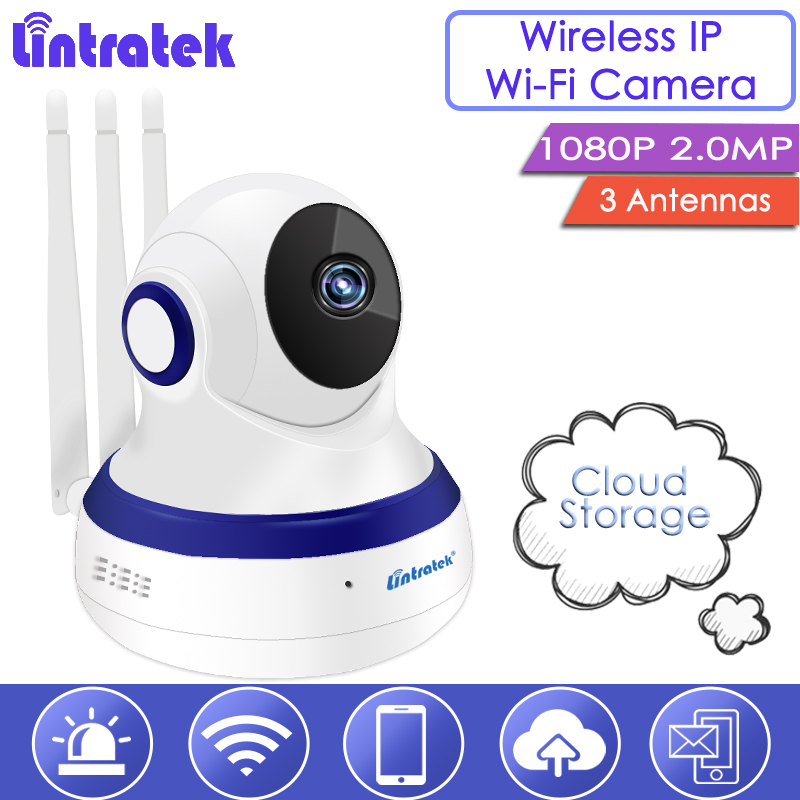 Lintratek Ship From Russia 1080P Wireless Security Camera Cloud Storage Wi-Fi IPCam Baby Monitor 2.0MP with 3 Antennas Nanny S39 ...