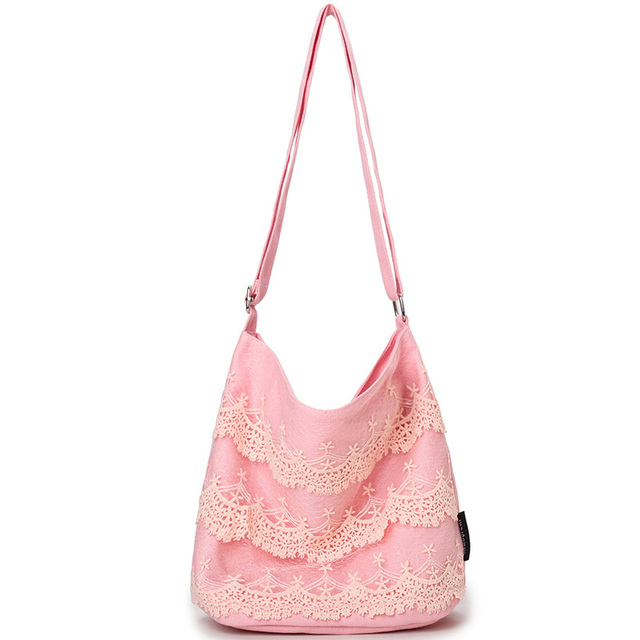 girl bags kids shoulder lace canvas tote bags for women christmas handbag womens bolsa pink bags
