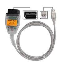 V12.10.019 MINI VCI ממשק עבור טויוטה TIS Techstream כבל MINI-VCI J2534 OBD2 רכב כלי אבחון-באמצעות משלוח חינם