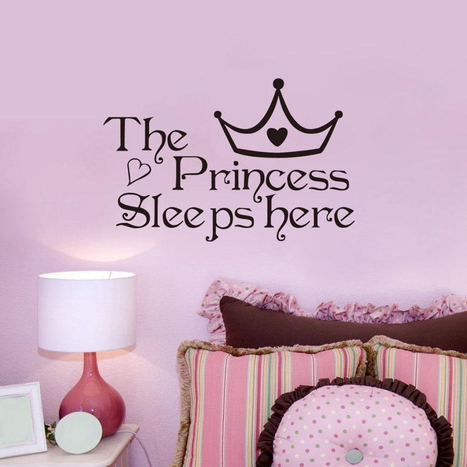 HTB159eAPXXXXXXkXXXXq6xXFXXXd - The Princess Sleep Here Wall Stickers For Kids Room